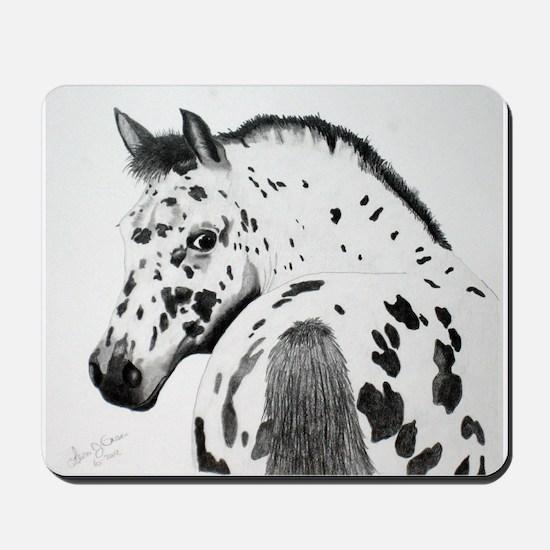 Leopard Appaloosa Colt pencil drawing Mousepad