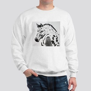 Leopard Appaloosa Colt pencil drawing Sweatshirt