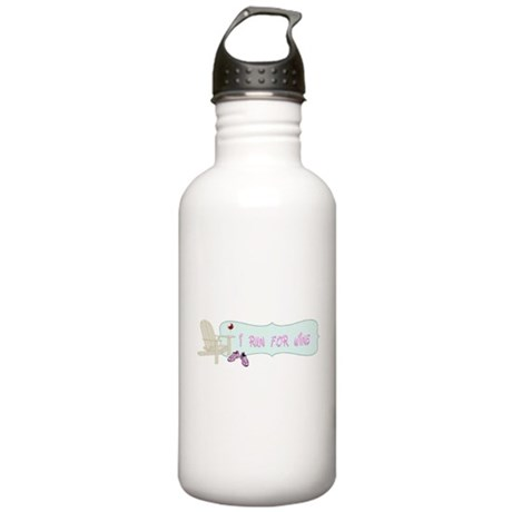 I Run For Wine Stainless Water Bottle 1.0L