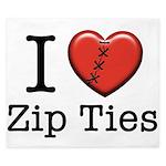 I love Zip Ties King Duvet