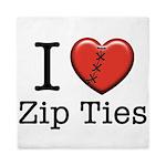 I love Zip Ties Queen Duvet