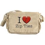 I love Zip Ties Messenger Bag