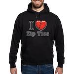 I love Zip Ties Hoodie (dark)