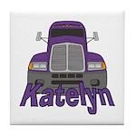 Trucker Katelyn Tile Coaster