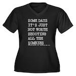 Some Days Women's Plus Size V-Neck Dark T-Shirt