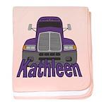 Trucker Kathleen baby blanket