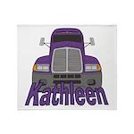 Trucker Kathleen Throw Blanket