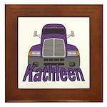 Trucker Kathleen Framed Tile