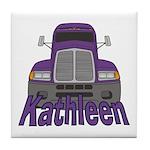 Trucker Kathleen Tile Coaster