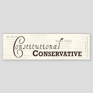 Constitutional Conservative Sticker (Bumper)