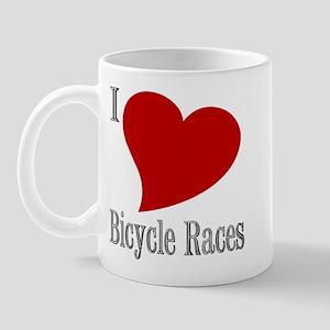 I Love Bicycle Races Ceramic Mug