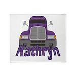 Trucker Kathryn Throw Blanket