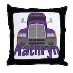 Trucker Kathryn Throw Pillow