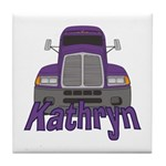 Trucker Kathryn Tile Coaster