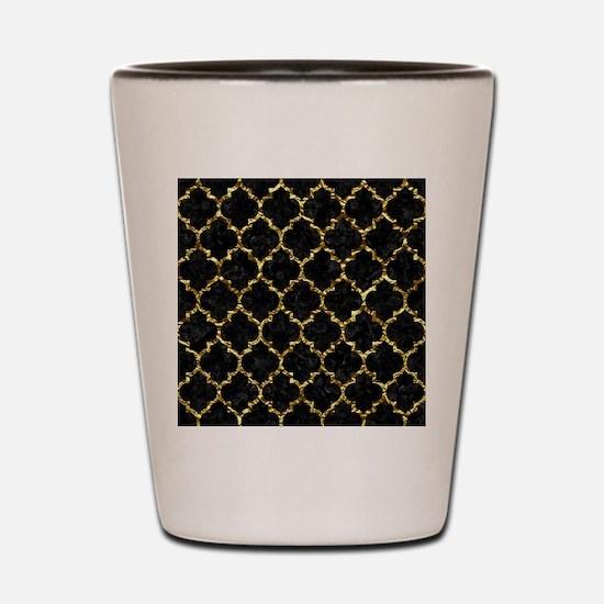 TILE1 BLACK MARBLE & GOLD FOIL Shot Glass