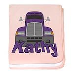 Trucker Kathy baby blanket