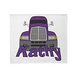 Trucker Kathy Throw Blanket