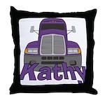 Trucker Kathy Throw Pillow