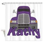 Trucker Kathy Shower Curtain