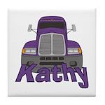 Trucker Kathy Tile Coaster