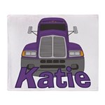 Trucker Katie Throw Blanket