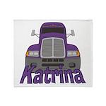 Trucker Katrina Throw Blanket