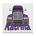 Trucker Katrina Tile Coaster
