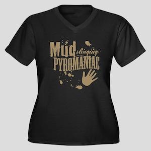 Mud Slinging Pyromaniac Women's Plus Size V-Neck D