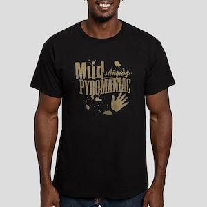 Mud Slinging Pyromaniac Men's Fitted T-Shirt (dark