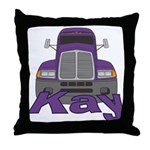 Trucker Kay Throw Pillow