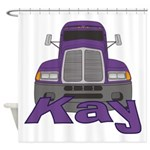 Trucker Kay Shower Curtain