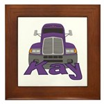 Trucker Kay Framed Tile