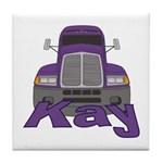 Trucker Kay Tile Coaster