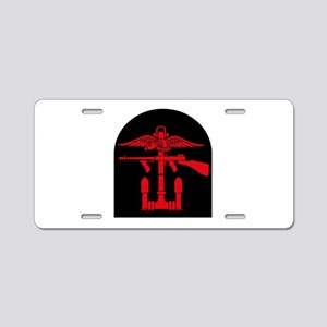 Combined Operations B-R Tombstone Aluminum License