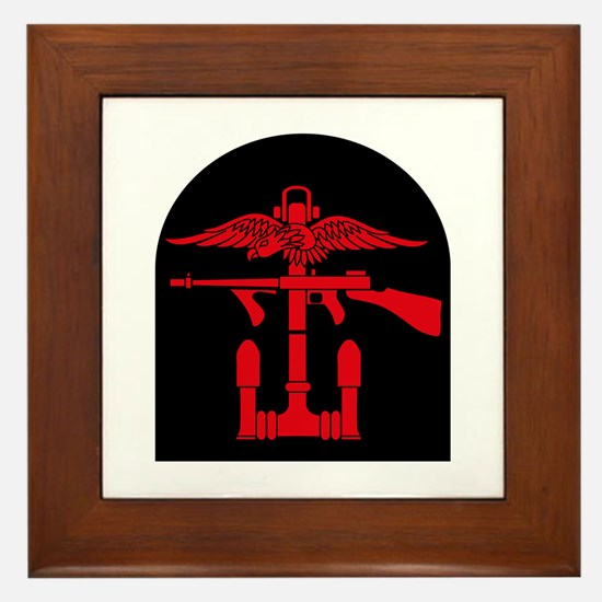 Combined Operations B-R Tombstone Framed Tile