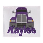 Trucker Kaylee Throw Blanket