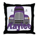 Trucker Kaylee Throw Pillow