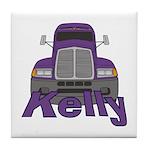 Trucker Kelly Tile Coaster