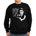 Coffee Keeps Me Busy Sweatshirt (dark)