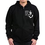 Coffee Keeps Me Busy Zip Hoodie (dark)