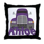 Trucker Khloe Throw Pillow