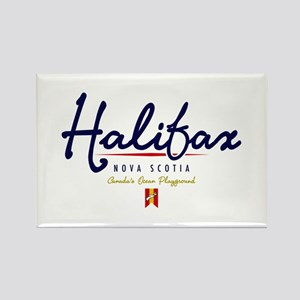 Halifax Script Rectangle Magnet