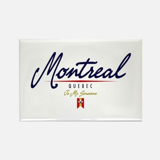 Montreal Script Rectangle Magnet