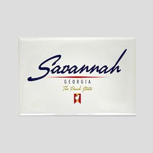Savannah Script Rectangle Magnet