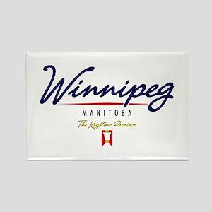 Winnipeg Script Rectangle Magnet