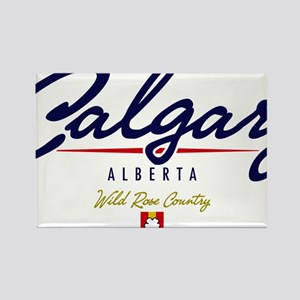 Calgary Script Rectangle Magnet