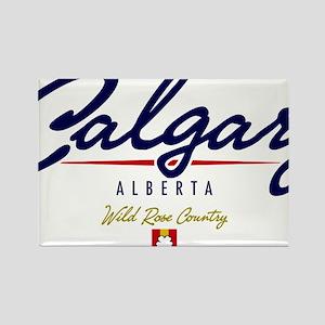 Calgary Script Rectangle Magnet