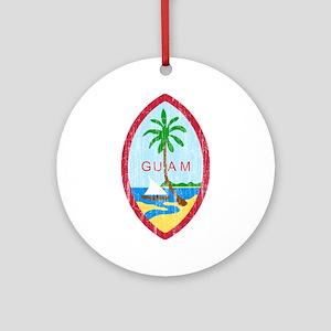 Guam Coat Of Arms Ornament (Round)