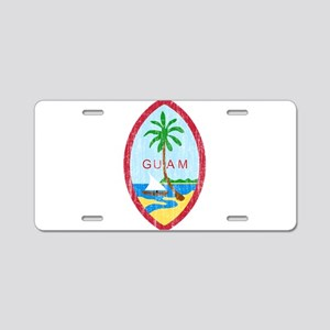 Guam Coat Of Arms Aluminum License Plate