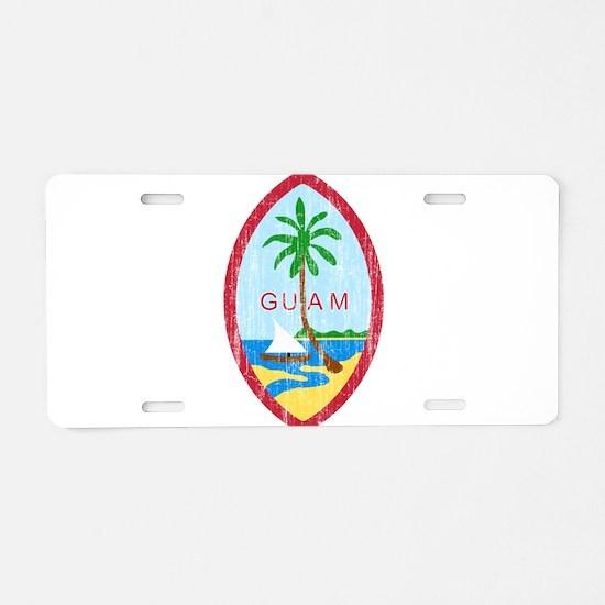 Guam Coat Of Arms Aluminum License Plate